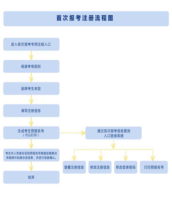 新生报名流程图
